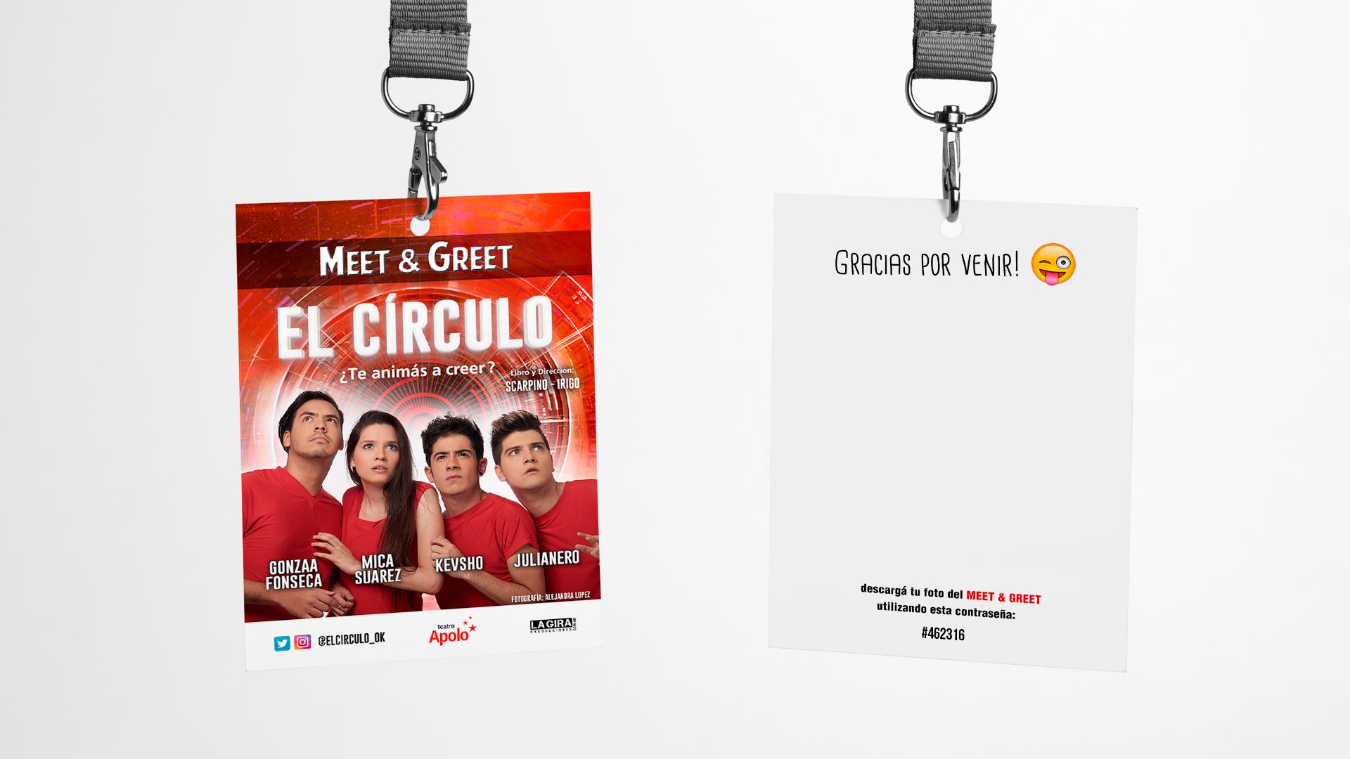Diseño de Credenciales para Meet And Greet